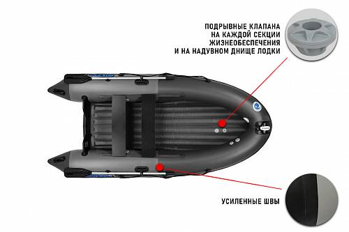 Лодка ПВХ Stormline Air Cruiser [400] (Grey/black)